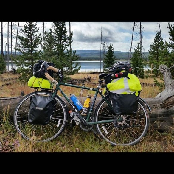Cycling for Conservation | Two conservationists bicycling